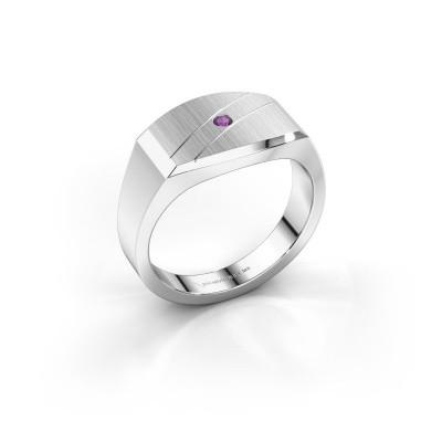 Foto van Heren ring Joe 3 925 zilver amethist 2 mm