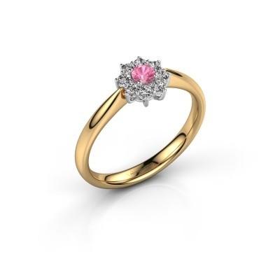 Bild von Verlobungsring Carolyn 1 585 Gold Pink Saphir 3 mm