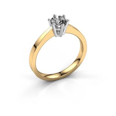 Engagement ring Noortje 585 gold diamond 0.40 crt