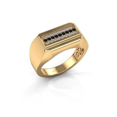 Foto van Heren ring Gerard 375 goud zwarte diamant 0.322 crt