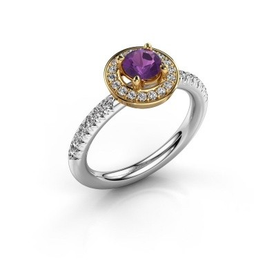 Picture of Ring Christine 585 white gold amethyst 5 mm