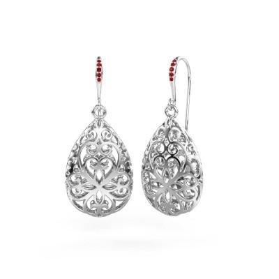 Picture of Drop earrings Idalia 1 375 white gold ruby 1.1 mm