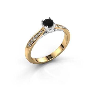 Foto van Verlovingsring Mia 2 585 goud zwarte diamant 0.36 crt