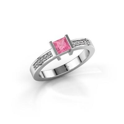 Engagement ring Jordan 925 silver pink sapphire 4 mm