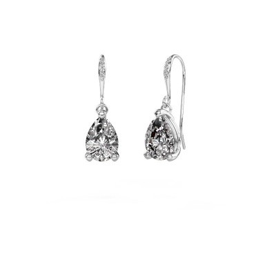 Picture of Drop earrings Laurie 2 950 platinum diamond 2.10 crt