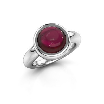 Ring Jenae 925 silver garnet 10 mm
