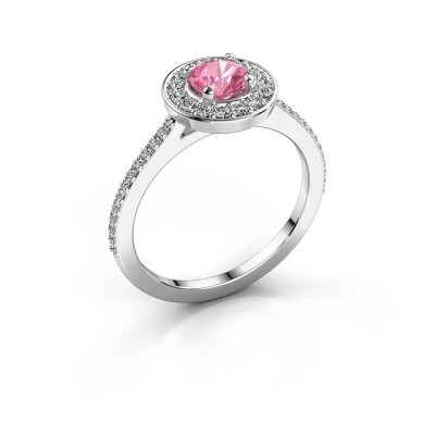 Ring Agaat 2 925 zilver roze saffier 5 mm