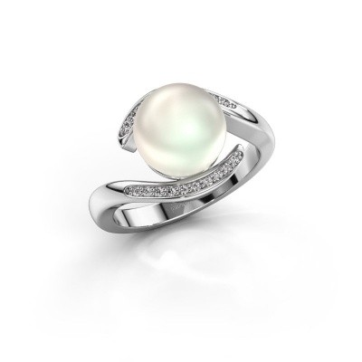 Foto van Ring Dedra 585 witgoud witte parel 9 mm