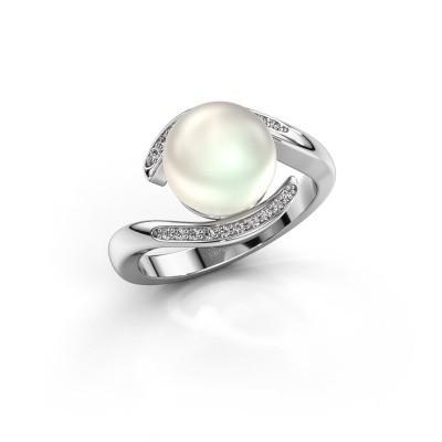Bild von Ring Dedra 585 Weissgold Weiße Perl 9 mm