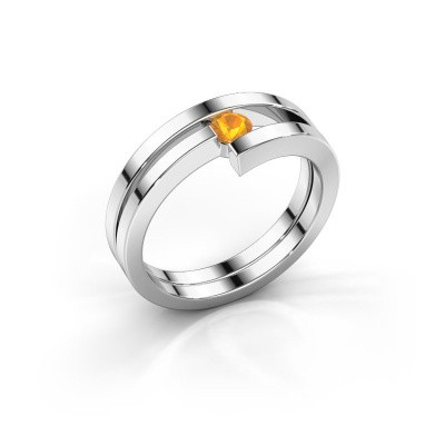 Foto van Ring Nikia 950 platina citrien 3.4 mm