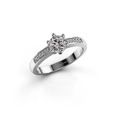 Picture of Engagement ring Luna 2 585 white gold diamond 0.50 crt
