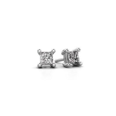 Bild von Ohrsteckers Sam square 925 Silber Diamant 0.80 crt