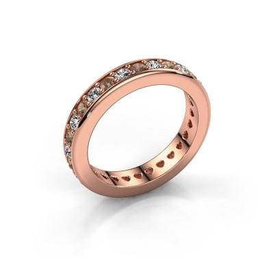 Aanschuifring Nienke 375 rosé goud bruine diamant 1.26 crt