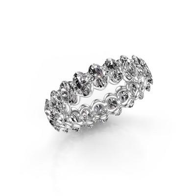 Foto van Aanschuifring Kirsten OVL 4.5x3.5 585 witgoud lab-grown diamant 3.57 crt