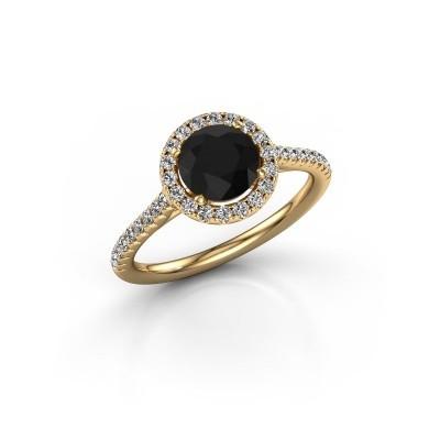 Foto van Verlovingsring Marty 2 375 goud zwarte diamant 1.540 crt