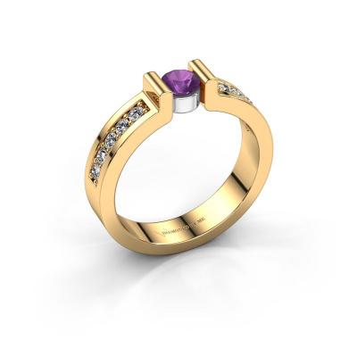 Engagement ring Isabel 2 585 gold amethyst 4 mm