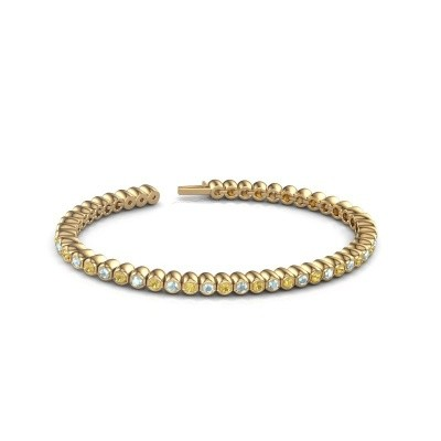 Picture of Tennis bracelet Patrica 375 gold yellow sapphire 2.4 mm