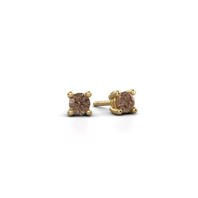 Foto van Oorstekers Sam 375 goud bruine diamant 0.25 crt