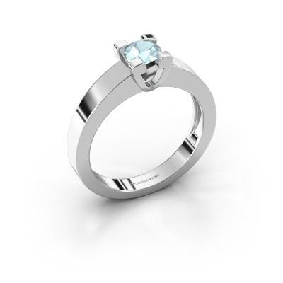 Foto van Promise ring Anne 1 925 zilver aquamarijn 4.7 mm
