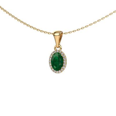 Bild von Anhänger Seline ovl 585 Gold Smaragd 7x5 mm