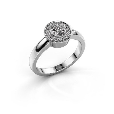 Foto van Ring Adriana 1 950 platina diamant 0.37 crt
