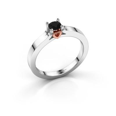 Foto van Belofte ring Eliz 585 witgoud zwarte diamant 0.36 crt