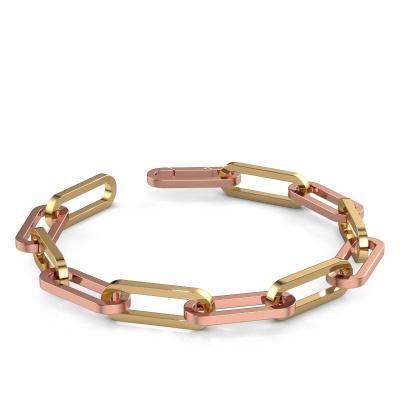 CFE armband ±12 mm 585 rosé goud