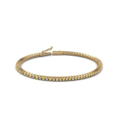 Picture of Tennis bracelet Simone 375 gold yellow sapphire 2 mm