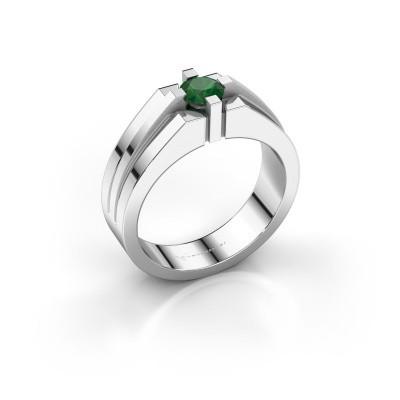 Foto van Heren ring Kiro 585 witgoud smaragd 5 mm