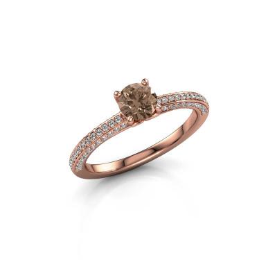 Bild von Verlobungsring Elenore rnd 375 Roségold Braun Diamant 0.50 crt