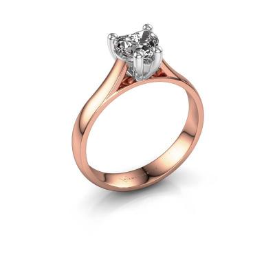 Engagement ring Sam Heart 585 rose gold diamond 0.80 crt
