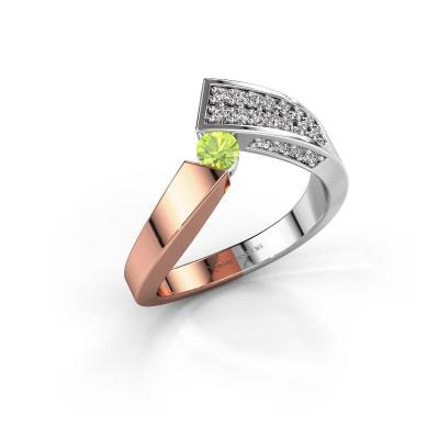Ring Evie 585 rose gold peridot 3.4 mm