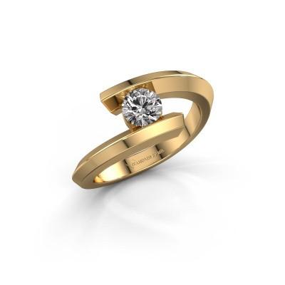 Ring Paulette 585 gold diamond 0.40 crt