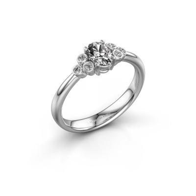 Foto van Verlovingsring Lucy 1 585 witgoud lab-grown diamant 0.572 crt
