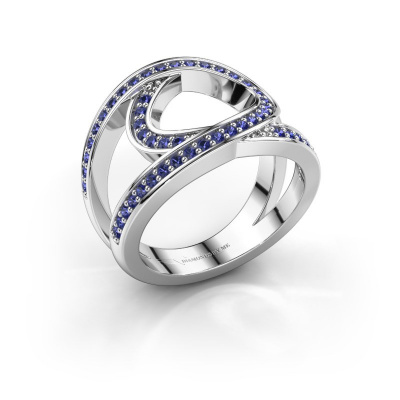 Ring Louise 585 white gold sapphire 1.2 mm