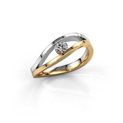Aanzoeksring Sigrid 1 585 goud lab-grown diamant 0.20 crt