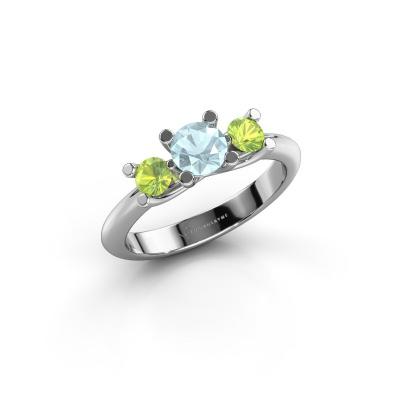 Ring Mirthe 585 white gold aquamarine 5 mm