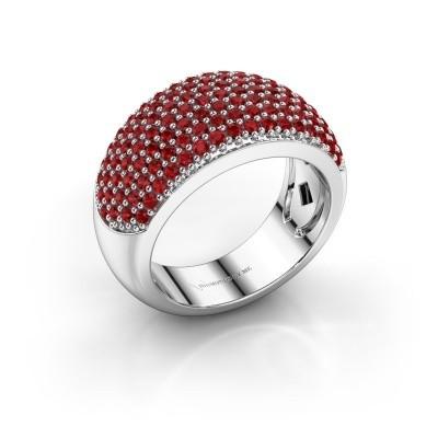 Ring Kati 950 platina robijn 1.3 mm