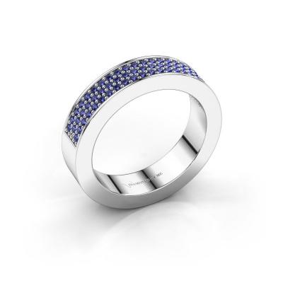 Ring Lindsey 2 950 platina saffier 1.1 mm