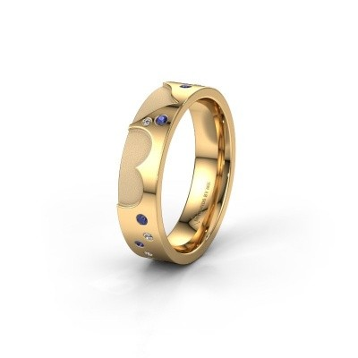 Trouwring WH2114L25A 585 goud saffier ±5x1.7 mm