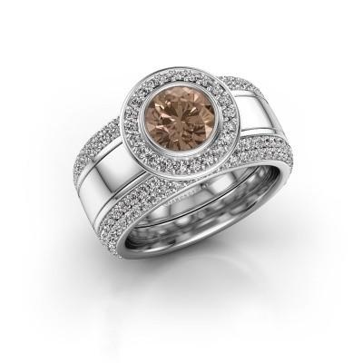 Foto van Ring Roxie 925 zilver bruine diamant 2.06 crt