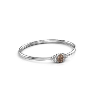 Foto van Slavenarmband Lucy 585 witgoud bruine diamant 1.27 crt
