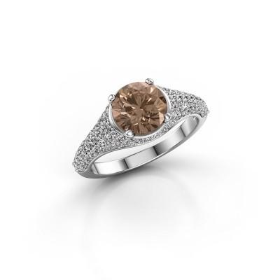 Verlovingsring Lovella 585 witgoud bruine diamant 1.929 crt