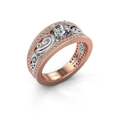 Foto van Verlovingsring Julliana 585 rosé goud diamant 0.91 crt