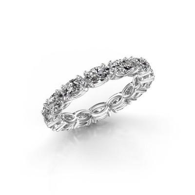Foto van Ring Vivienne OVL 5x3 585 witgoud diamant 3.22 crt