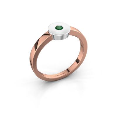 Ring Elisa 585 Roségold Smaragd 3 mm