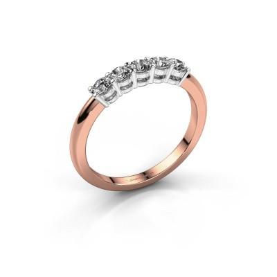Foto van Promise ring Michelle 5 585 rosé goud lab-grown diamant 0.40 crt