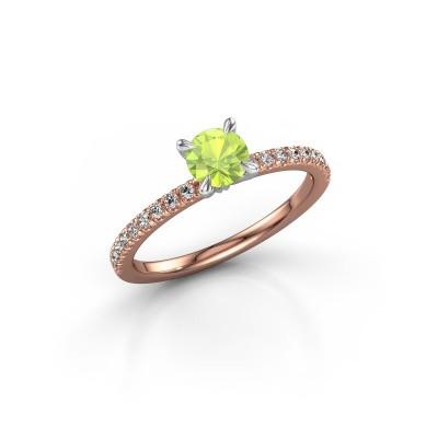 Foto van Verlovingsring Crystal rnd 2 585 rosé goud peridoot 5 mm
