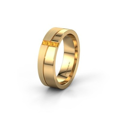 Wedding ring WH0906L16A 585 gold citrin ±6x1.7 mm