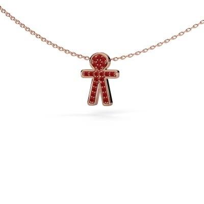 Pendant Boy 375 rose gold ruby 1 mm